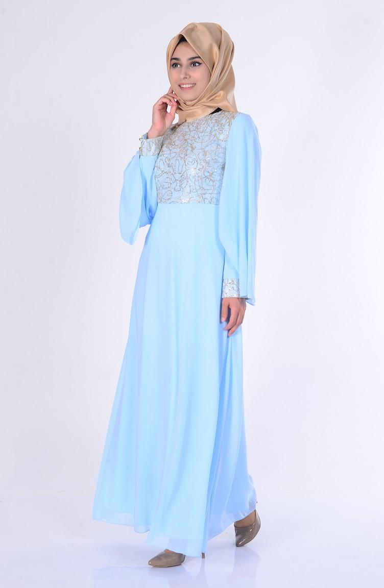 c233dd063abda فستان شيفون يتميز بتفاصيل من الترتر 2858-10