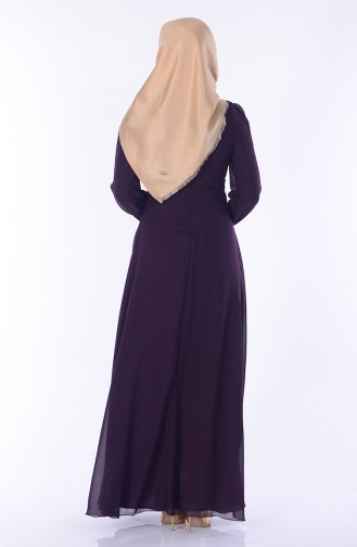 Dark Damsons Islamic Clothing Evening Dress 2398-28