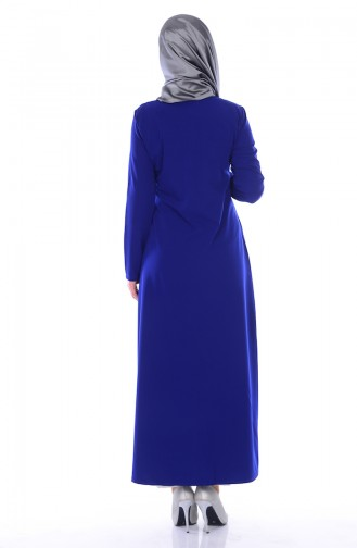 Saxon blue Abaya 0546-08