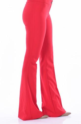 İspanyol Paça Pantolon 3990-11 Kırmızı Sefamerve