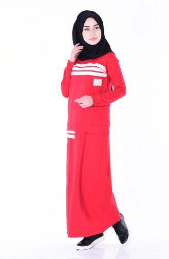 طقم لون أحمر 1433-01