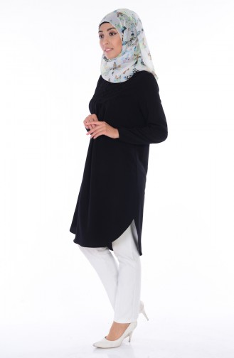 Lace Detailed Tunic 7817-04 Black 7817-04