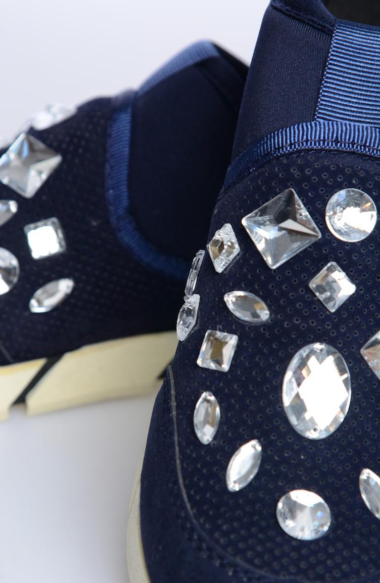 Dunkelblau Tägliche Schuhe 50000 02