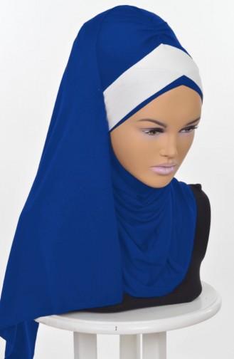 Zwei Farbiger Schal aus Gekämmte Baumwoll-Saks Creme CPS0040-4-8 0040-4-8