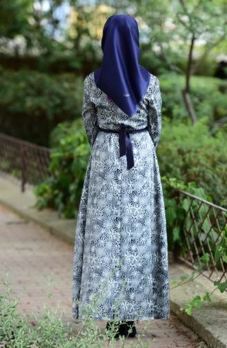 Navy Blue Dress 3947-02