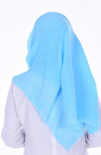 Châle Coton Plissé 50275-14 Bleu Bébé 14