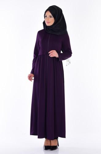 Abaya Fermeture a Glissiere 1901-07 Pourpre 1901-07