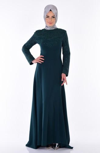 Emerald Islamic Clothing Evening Dress 3017-05