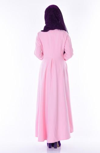 Robe Asymétrique 4055-28 Rose Poudre 4055-28