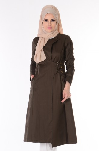 Dark Green Trench Coats Models 7005-02