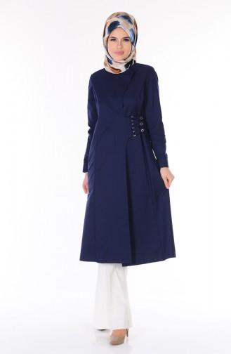Navy Blue Trench Coats Models 7005-01