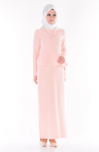 Kleid mit Halskette 0693-04 Lachs 0693-04