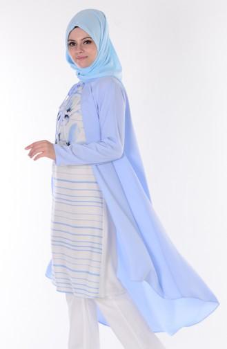 Tunik Hırka İkili Takım 0914-03 Bebe Mavi
