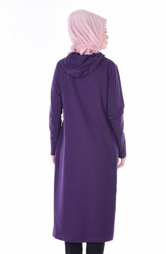 Coat with Hood 1480-07 Purple 1480-07