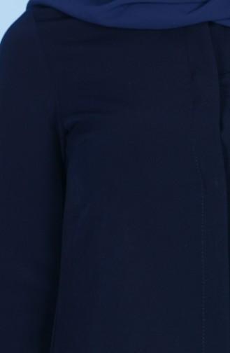 Tunique a Boutons Cachés 5002-04 Bleu Marine 5002-04