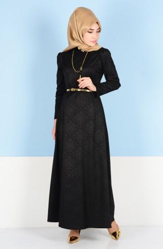 W. B Belted Dress 3951-03 Black 3951-03
