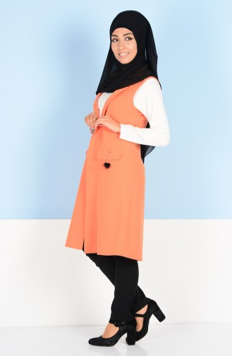سترة بدون اكمام برتقالي 8128-01