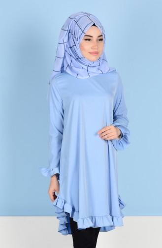 Ruffle Skirt Tunic 1013-03 Baby Blue 1013-03