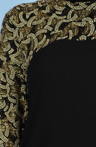 Robe de Soirée Paillette 2020-01 Noir Or 2020-01