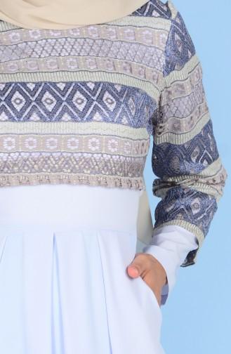 Kleid mit Spitzen 3147-03 Ice Blau 3147-03
