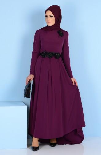 Kleid mit Blumen Detail 3164-03 Flieder 3164-03