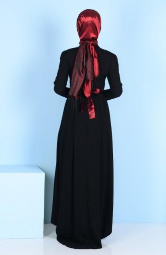 Robe Détail Fleurs 3164-05 Noir 3164-05