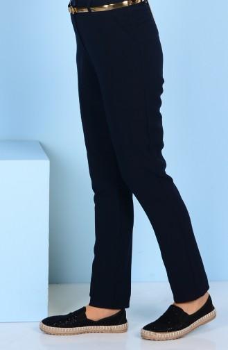 Pantalon a Ceinture 2067-03 Bleu Marine 2067-03