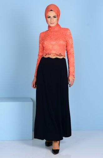 فستان بتفاصيل من الدانتيل 3162-06