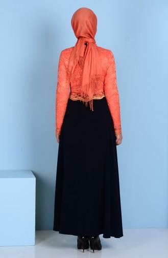 Orange İslamitische Jurk 3162-06