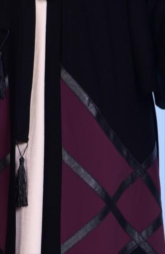 فستان لون بنفسجي غامق داكن 7735-02