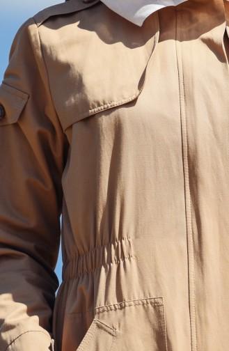 Imperméable à Capuche 7008-02 Camel 7008-02