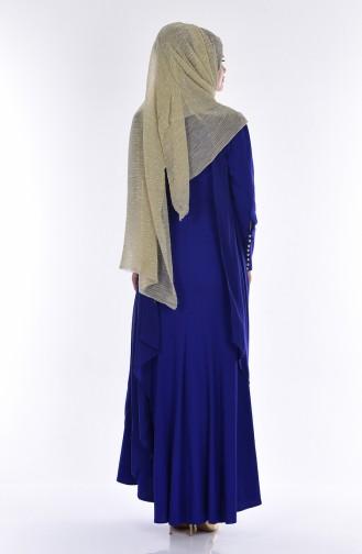 Habillé Hijab Blue roi 7004-02