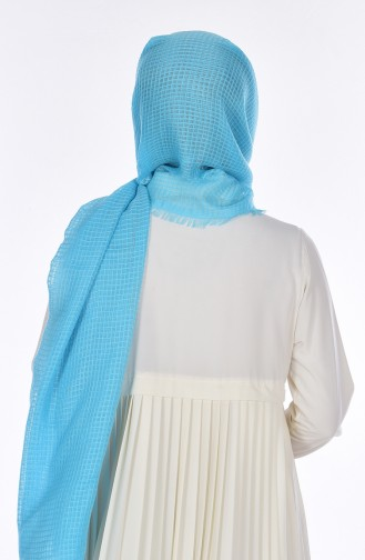 Châle Coton 19031-11 Turquoise 11