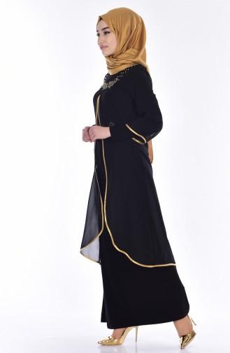 Black İslamitische Avondjurk 7003-03
