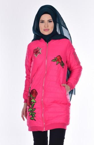 Jacke mit Stickerei 5005-02 Fuchsia 5005-02