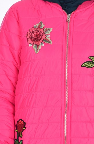 Decorated Coat 5005-02 Fuchsia 5005-02