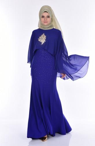 Abendkleid mit Umhang 7007-03 Saks 7007-03