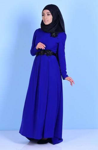 Saxon blue İslamitische Jurk 3164-08