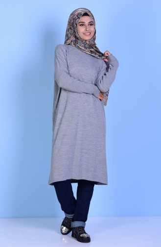 Bat Sleeve Knitwear Tunic 3924-04 Grey 3924-04