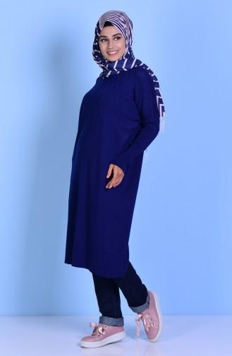 Tunique Tricot Manches Chauve-Souris 3924-03 Bleu Marine 3924-03
