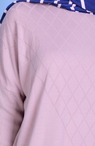 ايلميك تونيك تريكو بتصميم أكتاف واسعة  3924-02 لون وردي 3924-02