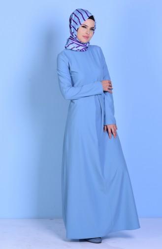 Ice Blue İslamitische Jurk 2821-14