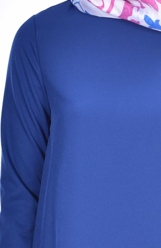 Ruffle Skirt Tunic 1013-10 Indigo 1013-10