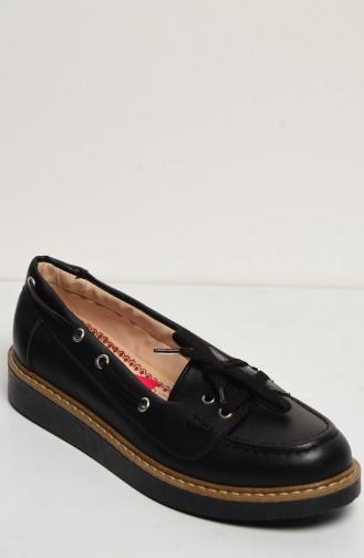 Schwarz Tägliche Schuhe 50085-01