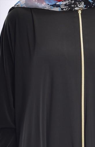Abaya mit Reißverschluss17471-02 Khaki Grün 17471-02