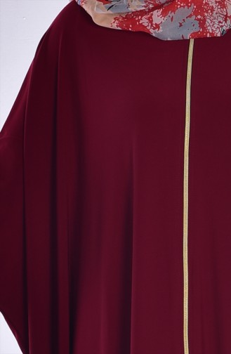 Abaya Fermeture a Glissiere 17471-08 Bordeaux 17471-08