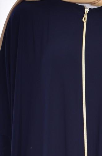 Abaya Fermeture a Glissiere 17471-09 Bleu Marine 17471-09