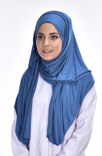 Sefamerve Sedef Schal aus Gekämmte Baumwoll 87 Jeans Blau 87