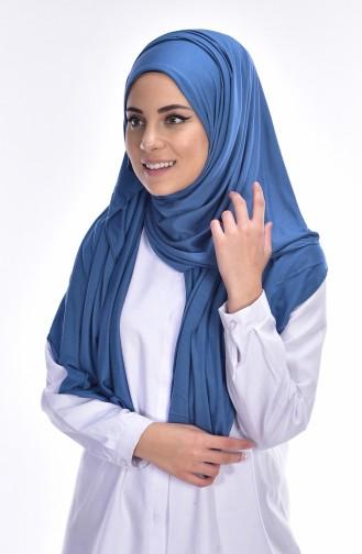 Sefamerve Sedef Châle Peigné 87 Bleu Jean 87