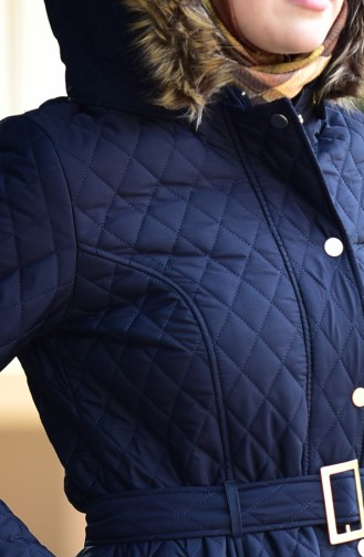 Navy Blue Long Coat 5042-05